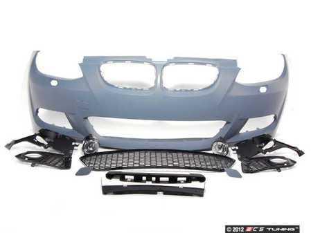 ES#1306791 - E92MTECH-FRONT - M-Sport Front Bumper Assembly Retrofit - Complete front bumper cover, primed ready for painting - Genuine BMW - BMW
