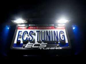 ES#2593790 - 001456ECS01CKT - LED License Plate Light - Pair - Improve your nighttime aesthetics - ZiZa - Porsche