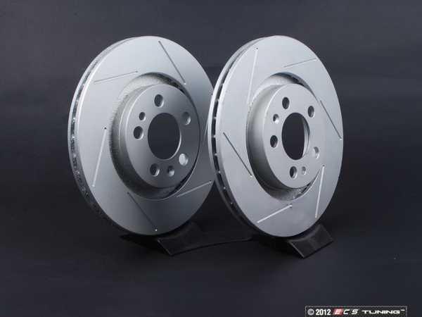 ES#2189781 - 1J0615301MKT6 - Front Slotted Brake Rotors - Pair (280x22) - Featuring GEOMET protective coating. - ECS - Volkswagen