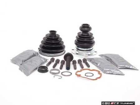 ES#2587721 - 441498203AKT2 - Front CV Joint Refresh Kit - Priced Each - Includes both inner & outer boots with hardware - Services one axle - Assembled By ECS - Audi