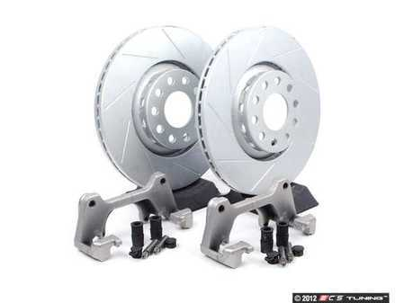 ES#1405 - B6A8BBKNPASR - Front Big Brake Kit - stage 1 - ECS GEOMET Slotted Rotors (312x25) - 3.0L carrier with 12.3 one piece rotors featuring GEOMET protective coating. - Assembled By ECS - Audi