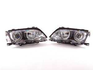 ES#248205 - FKFSBM015 - Angel Eye Headlight Set - Chrome - Upgrade with angel eye ambient lighting and improved visibility from euro spec lenses - FK - BMW
