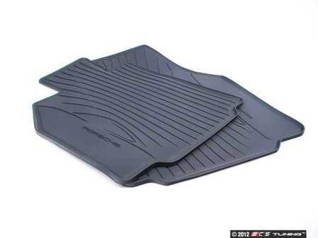 ES#1472180 - 98704480093 - Rubber Floor Mat Set - One set of two rubber mats - Genuine Porsche - Porsche