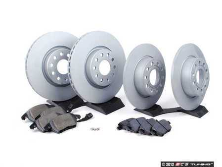ES#2576238 - 1K06153601ZH - ECS Front & Rear Brake Service Kit - Includes Zimmerman Rotors & Hawk HPS Pads - Assembled By ECS -