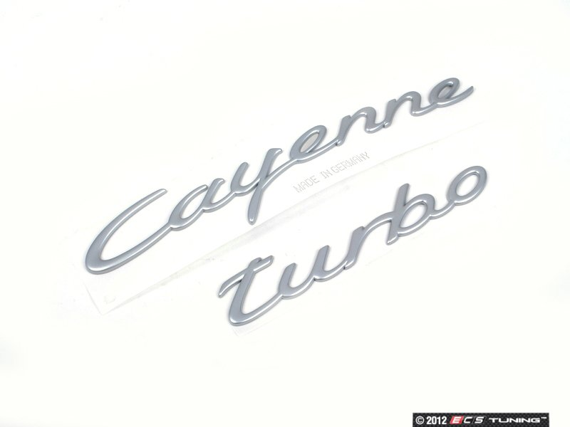 "Genuine Porsche - 955559038014W9 - ""Cayenne Turbo"" Logo ..."