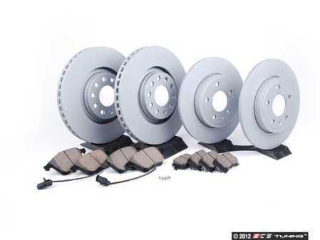 ES#2562102 - 8E0615301ADK2 - Front & Rear Brake Service Kit - Zimmerman Rotors & Akebono Euro Ceramic Pads - Everything you need to service your front & rear brakes in an afternoon  - Assembled By ECS -