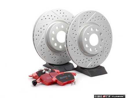 ES#2586542 - DP31517CDSKT - ECS Performance Front Brake Service Kit - Includes Drilled & Slotted GEOMET Rotors and EBC RedStuff Pads - Assembled By ECS -