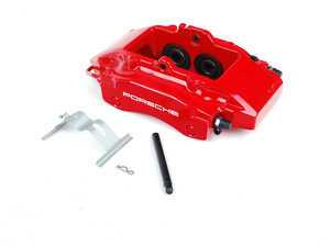 ES#1485549 - 99635242113 - Rear Brake Caliper - Red - Left side fitment - Genuine Porsche - Porsche