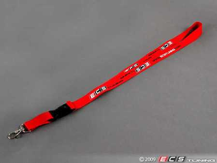 ES#1306554 - ECSLANRED - ECS Lanyard - Red - Now you can show your European pride by carrying ECS Tuning with you - ECS - Audi BMW Volkswagen Mercedes Benz MINI Porsche