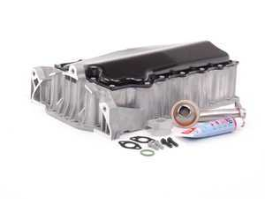 ES#2102397 - 06a103601aa - ECS Hybrid 1.8T Oil Pan Conversion Kit - Cracked your low lying aluminum pan? This ECS hybrid conversion kit is your ultimate solution. - Assembled By ECS - Audi Volkswagen