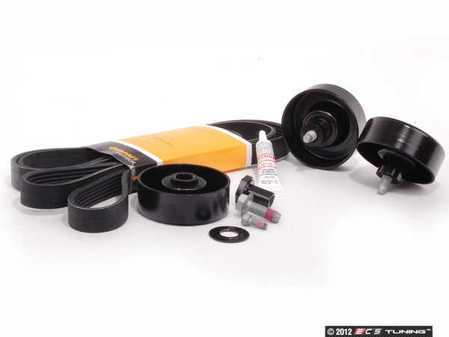 ES#2575111 - 99919237950KT1 - Serpentine Belt Kit - Accessory belt with rollers - Includes Loctite 592 for a complete job - Assembled By ECS - Porsche