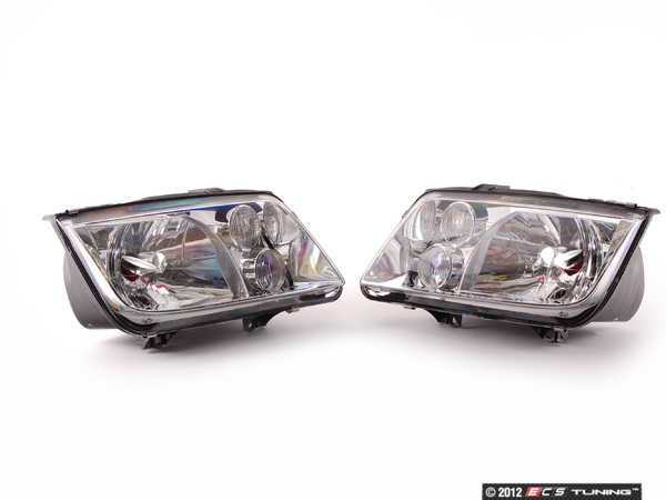 ES#523253 - 1J5698001BG -         Headlights - Pair - With fog lights, with clear turn signals - Genuine European Volkswagen Audi - Volkswagen