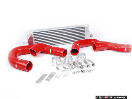 "ES#1832494 - FMINTA3FSR - Forge Front Mount Intercooler Kit - Red Hoses - (NO LONGER AVAILABLE) - Forge innovative ""TWINtercooler"" design - Forge -"