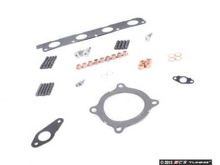 ES#2587509 - 06F253039FKT3 - Turbocharger Installation Kit W/ Exhaust Manifold Studs - Includes all gaskets and hardware - Assembled By ECS - Audi