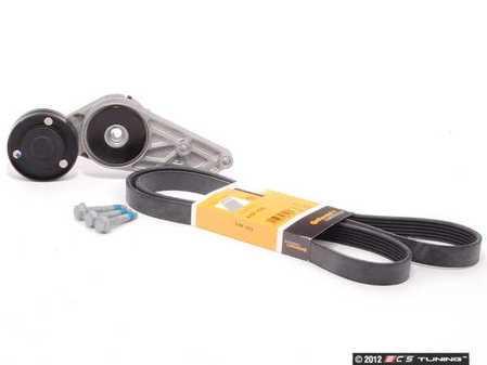 ES#2581840 - 06B903133EKT1 - Accessory Belt Kit - Includes belt, tensioner, & hardware to ensure that your belt is tight! - Assembled By ECS - Audi