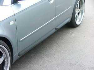 ES#3243 - B6S4DFKIT - S4 Lower Door Flare / Blade Kit - Grey - (NO LONGER AVAILABLE) - Get the S4 look with these European lower door flares - Genuine Volkswagen Audi -