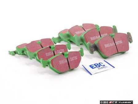 ES#2592954 - DP21211KT - Front And Rear Brake Pad Kit - EBC GreenStuff - And excellent set of upgraded pads with spirited driving in mind - EBC - BMW