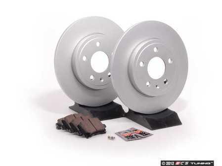 ES#2562097 - 8E0615601MKT - Rear Brake Service Kit - Featuring Meyle rotors and Vaico semi metallic pads - Assembled By ECS - Audi