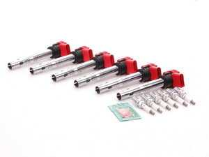 ES#2535689 - 06E905115EKT2 - Ignition Service Kit - Includes six OE red coils and spark plugs - Assembled By ECS - Audi