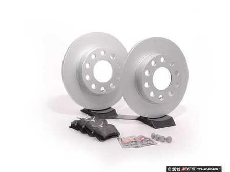 ES#2561903 - 8E0615601PKT1 - Rear Brake Service Kit - Fearturing Meyle rotors and Vaico brake pads - Assembled By ECS - Audi