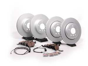 ES#2594522 - 34351164372KT1 - Front And Rear Brake Service Kit - Featuring Meyle coated rotors and Pagid pads - Assembled By ECS - BMW