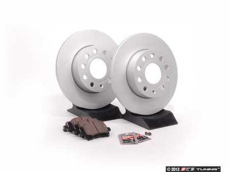 ES#2593944 - 40454104KT - Rear Brake Service Kit - Featuring Meyle rotors and Vaico semi metallic pads - Assembled By ECS - Audi