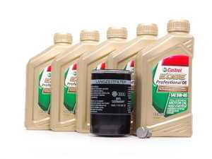ES#2526505 - 06A998561KT - Oil Service Kit - Includes standard OE oil filter and Castrol 5w-40 oil - Genuine Volkswagen Audi - Audi