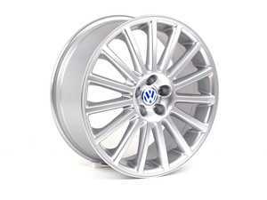 "ES#263034 - 1J0601025BA88Z-4 - 18"" Aristo Wheel - Set Of Four - 18x7.5 ET38 5x100 alloys with silver finish, blue center caps included - Genuine Volkswagen Audi - Volkswagen"