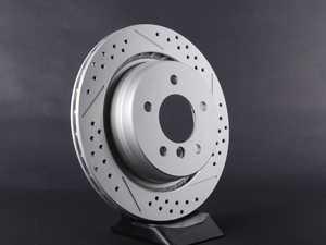 ES#2194018 - 2227177XSGMT-L - Brake Rotor - Cross Drilled & Slotted Geomet Coated - Left  - (312x20) - ECS -