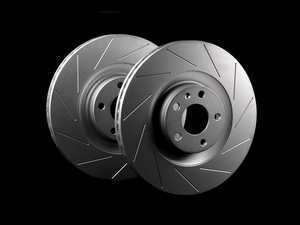 ES#2189771 - 8E0301TSLGMTLRA - Front Slotted Brake Rotors - Pair (345x30) - Featuring GEOMET protective coating. - ECS - Audi