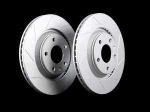ES#2538856 - 8E0601RSLTGMTLR - Rear Slotted Brake Rotors - Pair (300x22) - Featuring GEOMET protective coating. - ECS - Audi