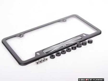 ES#2139027 - 80122211237 - MINI Black Jack License Plate Frame - Black - Priced Each - With the gray / black color scheme - Genuine MINI - MINI