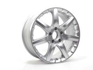 ES#1821158 - 66471511 - 7 Spoke Wheel - Priced Each - 17x7.5, 5x112, ET37 - Genuine Mercedes Benz - Mercedes Benz