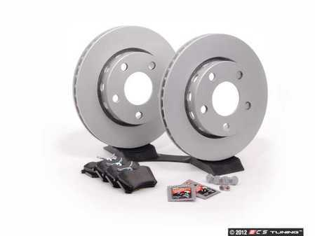 ES#2102265 - 8D0698015 - Rear Brake Service Kit - Featuring Meyle rotors and Vaico pads - Assembled By ECS - Audi