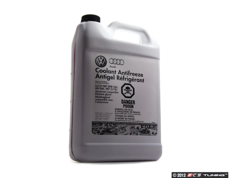 genuine volkswagen audi g13 coolant antifreeze 1 gallon. Black Bedroom Furniture Sets. Home Design Ideas