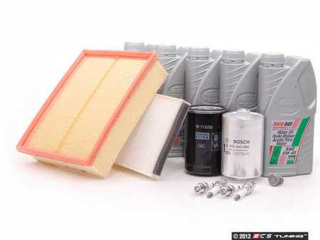 ES#3105 - B5ATWQUA40KSK -  40k Scheduled Service Kit - Standard Size Oil Filter - Everything you need to perform the recommended 40k mile service - Assembled By ECS - Audi