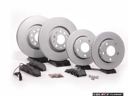ES#2102255 - 8D0698012 - Front & Rear Brake Service Kit - Featuring Meyle rotors and Akebono pads - Assembled By ECS - Audi