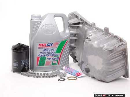 ES#2602596 - 06B103601CDKT - Oil Pan Replacement Kit - Everything required to replace your leaking pan, including the oil change - Assembled By ECS - Audi