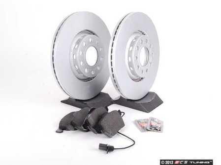 ES#2561912 - 8E0615301RKT1 - Front Brake Service Kit - Featuring Meyle rotors and Vaico semi metallic pads - Assembled By ECS - Audi