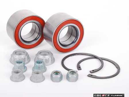 ES#2594438 - 8L0498625KT - Front Wheel Bearing Kit - Includes both front wheel bearings with installation hardware - Assembled By ECS - Audi