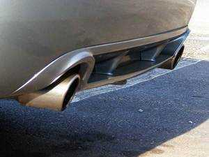 ES#4543 - 8EC071611A9AX - Rear Diffuser / Valance - Single piece, sport diffuser from Audi Zubehr - Audi Zubehor - Audi