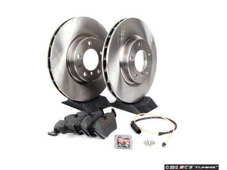 ES#2986782 - E36MZ3M3411 - Front Brake Service Kit - Featuring Brembo rotors and low-dust Akebono Euro Ceramic pads - Assembled By ECS - BMW
