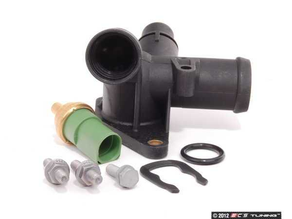 ES#2602901 - 06B121132EKT1 - Cooling Flange Replacement Kit - Cure the common coolant leak coming from the back of your engine compartment - Assembled By ECS - Audi
