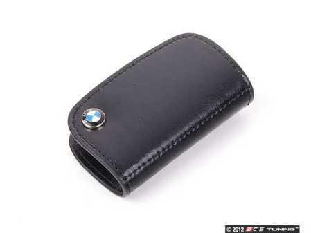 ES#256665 - 80232149936 - Nappa Leather Key Case - Black - Covers the late model BMW key fob - Genuine BMW - BMW
