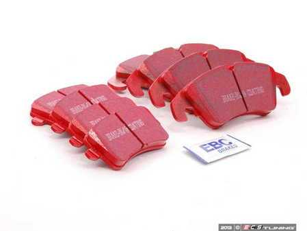 ES#2593799 - DP31986CKT - Front & Rear RedStuff Performance Brake Pad Kit - Restore your braking power on all four corners with upgraded pads! - EBC - Audi