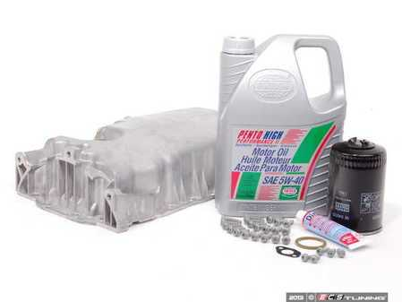 ES#2602536 - 038103603MKT - Oil Pan Replacement Kit - Everything required to replace your leaking pan, including the oil change - Assembled By ECS - Audi