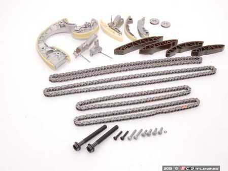 ES#2593417 - 079109229KT1 -  Timing Chain Kit  - Includes the upgraded RS4 metal guide rail, OEM additional guide rails, Febi timing chains and tensioners - The essentials necessary to get the job done! - Assembled By ECS - Audi
