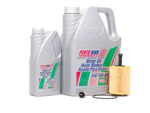 ES#5555 - MK4VR624V3KKTWMP -  Oil Service Kit - With ECS Magnetic Drain Plug - Includes Mann oil filter and Pentosin 5w-40 oil - Assembled By ECS - Audi Volkswagen