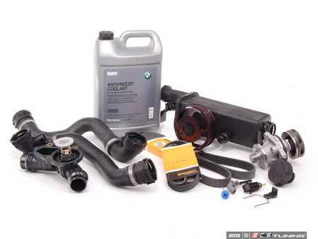 ES#2158110 - ECSE531711-9 - ECS Cooling System Refresh Kit - Level 2 - Stop your cooling problems before they start - includes an ECS Aluminum water pump pulley and featuring a GEBA water pump with a metal impeller - Assembled By ECS - BMW