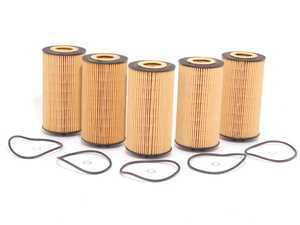 ES#514216 - 079198405 - Oil Filter Kit - Pack Of 5 - Stock up and save - Hengst - Audi Volkswagen